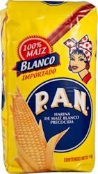 Pan White Maisflour – Yellow Pack  1 kg.