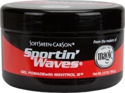 Sportin Waves Black Tin Gel Pomade 3.5 oz.