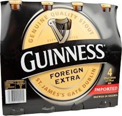 Guinness Export Stout Nigerian 7.5 % 24 x 325 ml.