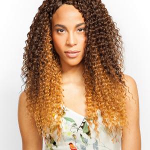 Premium Blended Hair Weave Kinky Curl lenght 16′ 18′ 20′ 22′ + closure in 1 pack