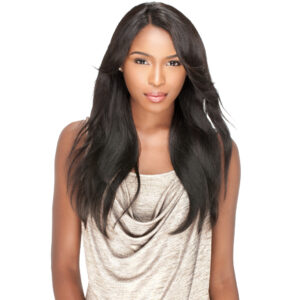 Perücke Echthaar 100% Lace Front Wig Brazilian Remy Human Hair Straight