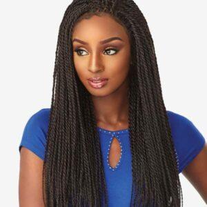 Perücke Rastazöpfe Kunsthaar 4×4 Lace wig Senegal Twist Braids
