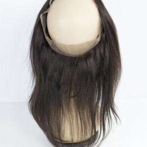 """100% Echthaar Virgin Brazilian Frontals Human Hair Haarteil """"Straight, Glatt"""" 14′ oder 30cm"""