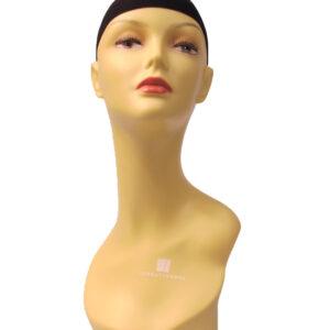 Dekokopf Perückenkopf mit Perückennetz Frau Kopf weibliche Schaufensterpuppe