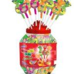 100xBon Bon Bum assorted lollypop with Gum