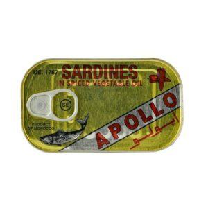 50 x 125 gr. Apollo Sardines in Oil Hot Sparpaket