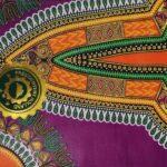 African Wax Afrikanischer Wax-Stoff Print Dekostof Dashiki Violet 6Yard