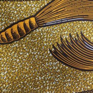 African Wax Afrikanischer Wax-Stoff Print Dekostof 6Yard